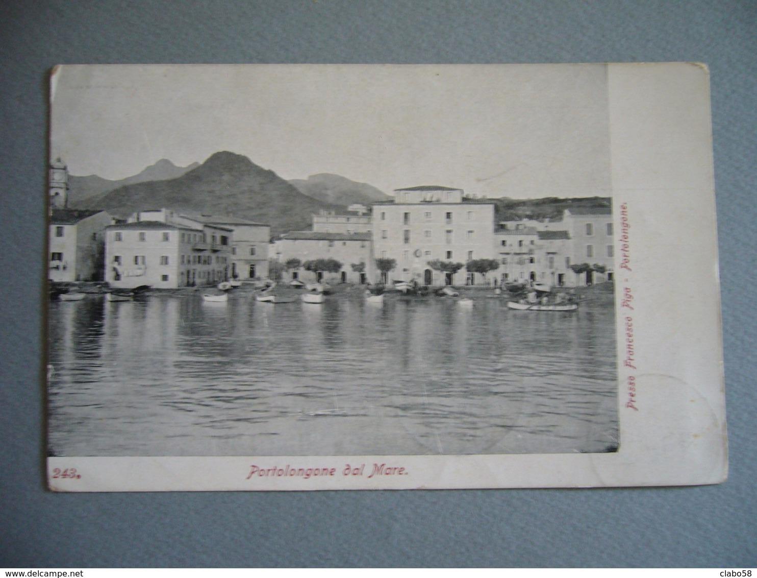 1911 PORTO LONGONE (ISOLA D'ELBA)  DAL MARE - Livorno