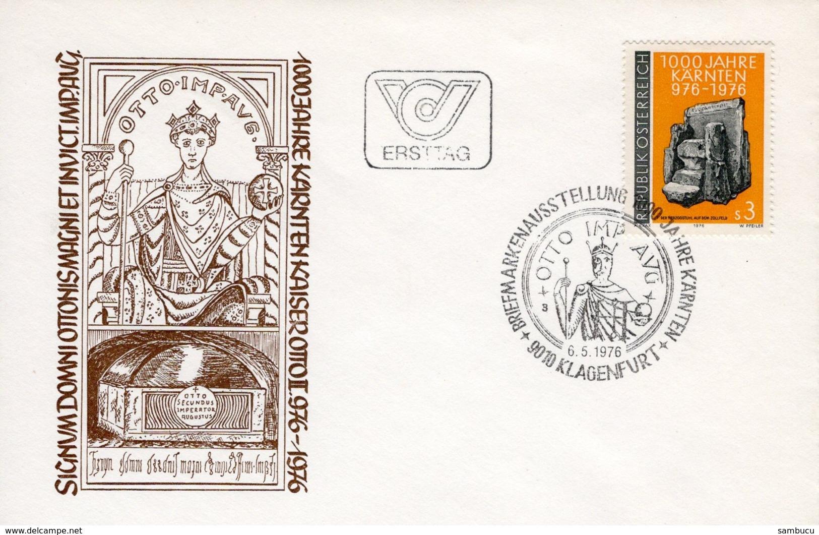 FDC - 1000 Jahre Kärnten 06.05.1976 Ersttag - FDC