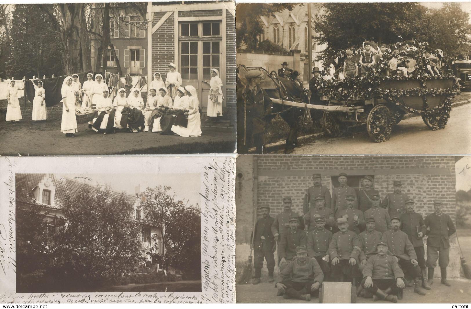 Lot De 60 Cartes-Photo Majorité Non Situées (toutes Scannées) - Postcards