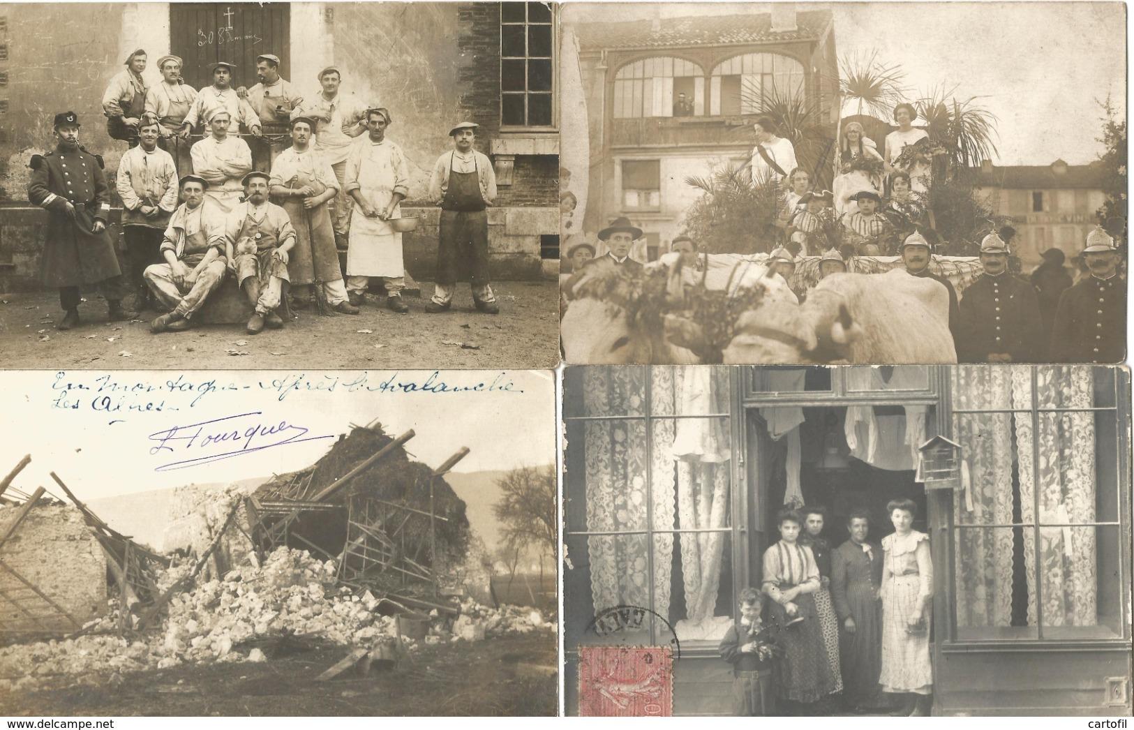Lot De 60 Cartes-Photo Majorité Non Situées (toutes Scannées) - Cartes Postales