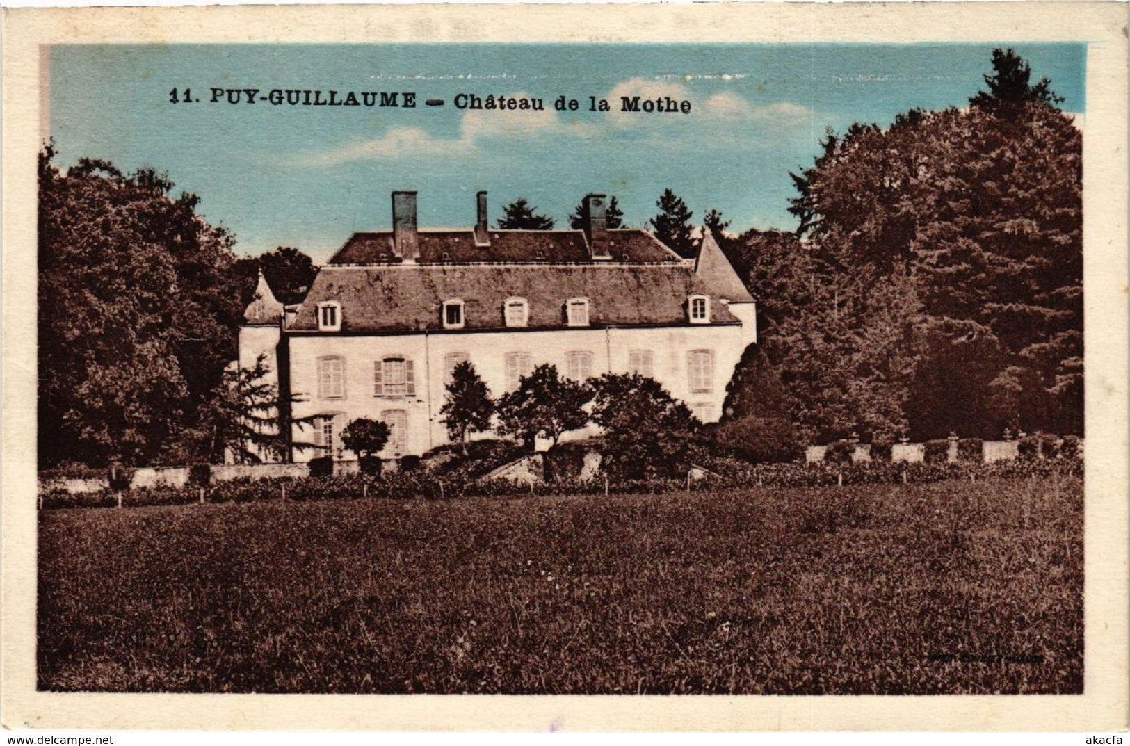 CPA PUY-GUILLAUME Chateau De La MOTHE (409345) - France