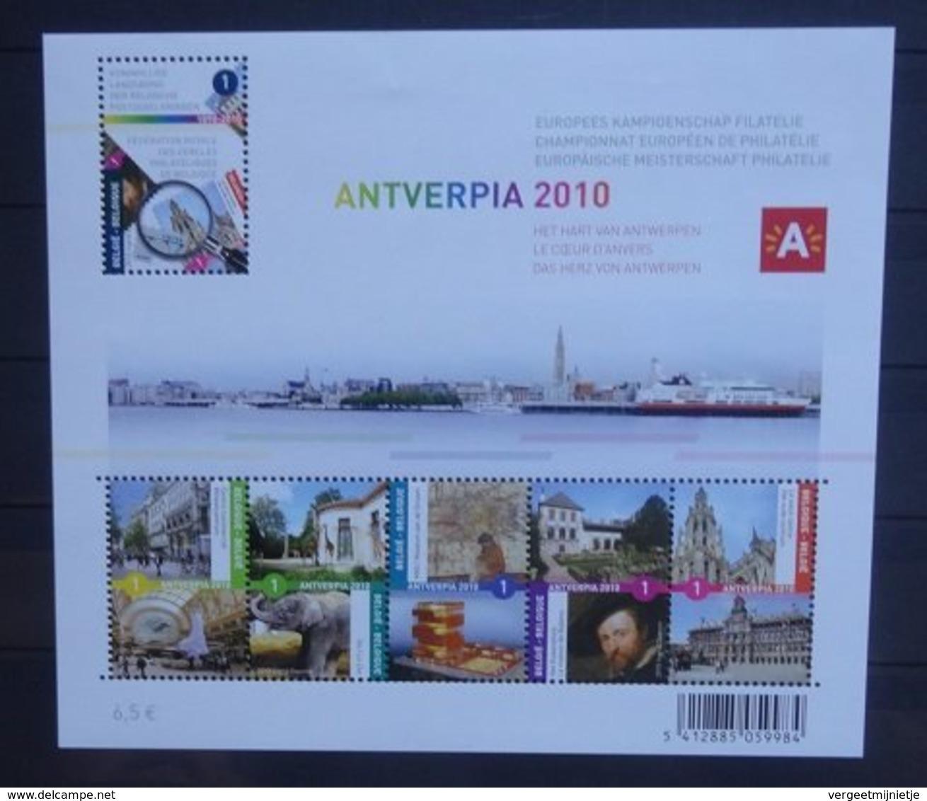 BELGIE  2010   Blok 177   Antverpia 2010   Postfris **   CW 40,00 - Blocs 1962-....