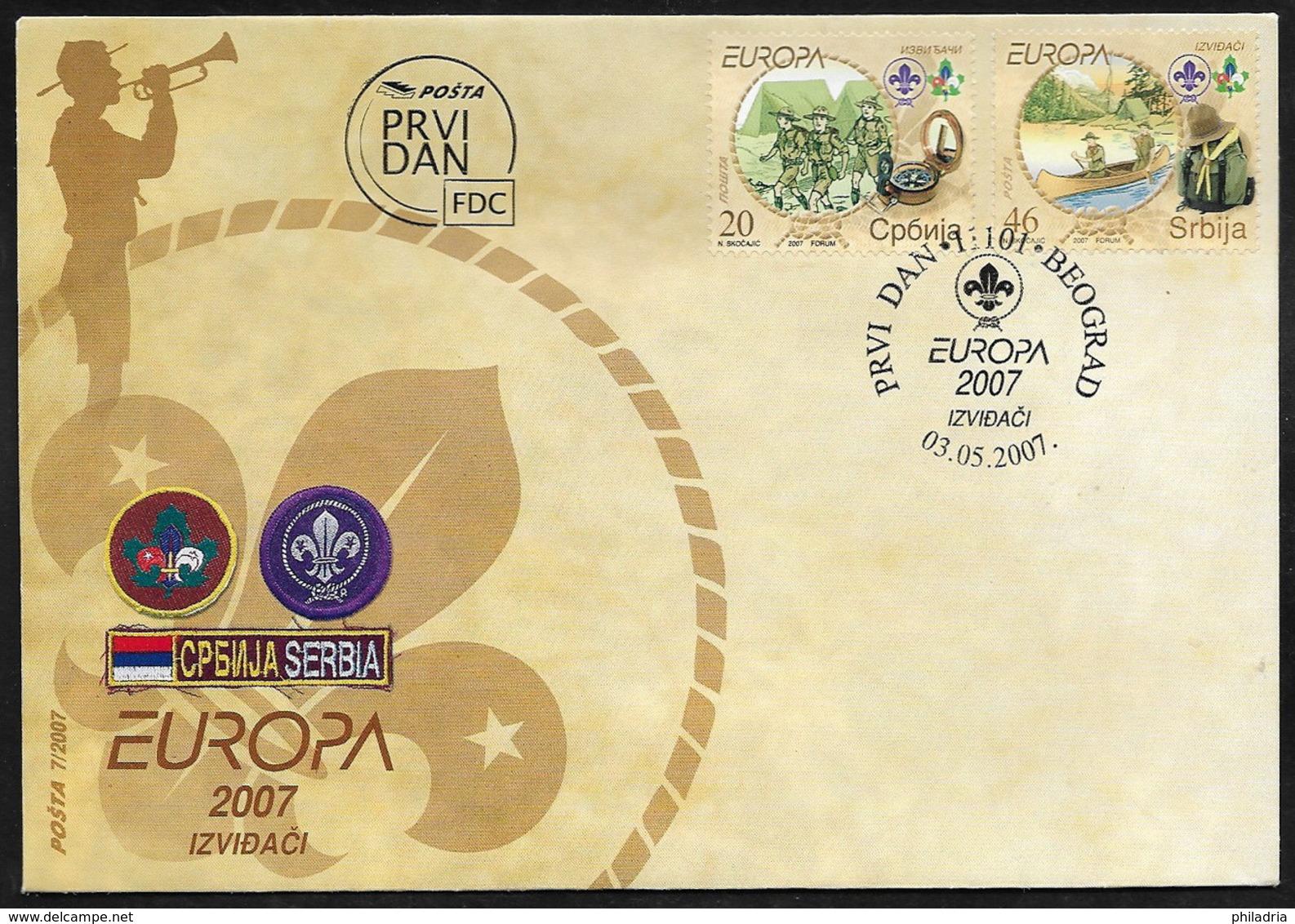 Serbia Europa 2007, FDC - Europa-CEPT