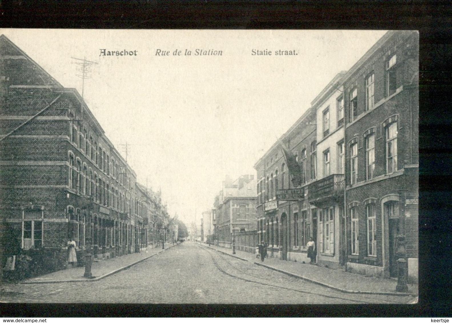 Aarschot - Rue De La Station Statie Straat - 1915 - Belgique