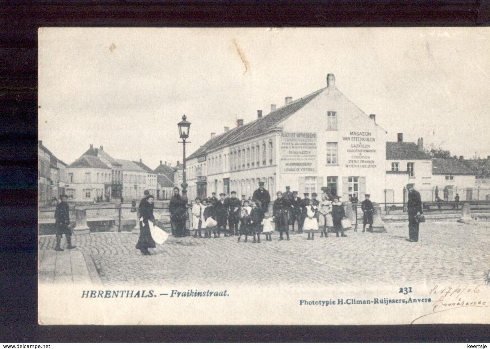 Herenthals - Fraikinstraat - Magazijn Steenkolen - 1906 - Belgique