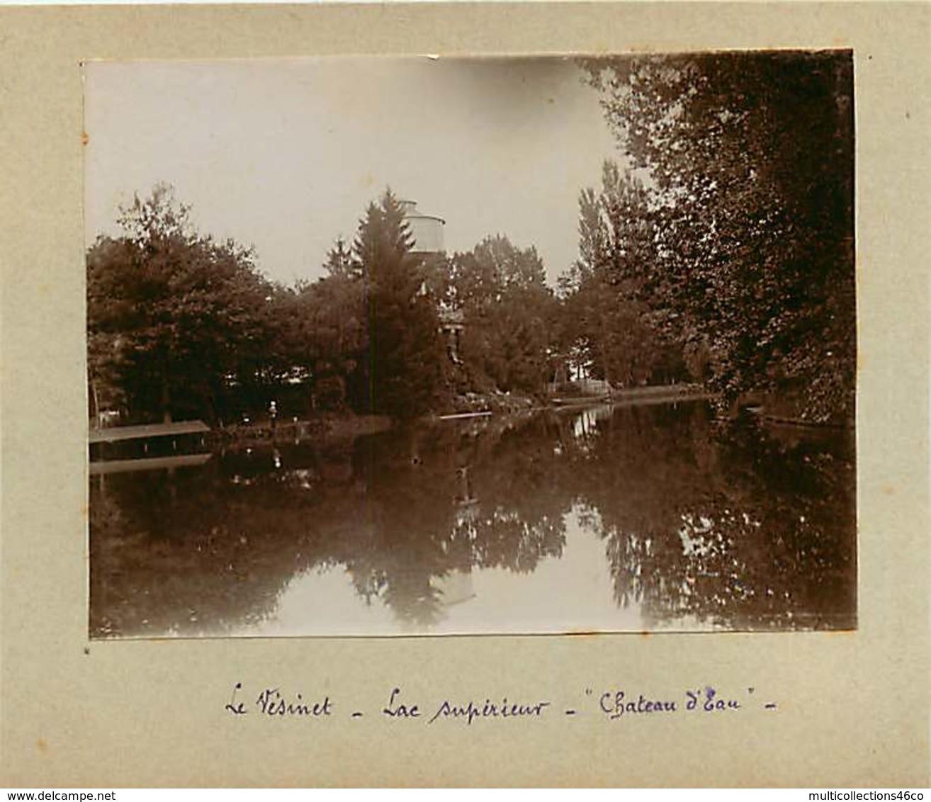 031019G - PHOTO 1900 - 78 LE VESINET Lac Supérieur Château D'eau - Le Vésinet