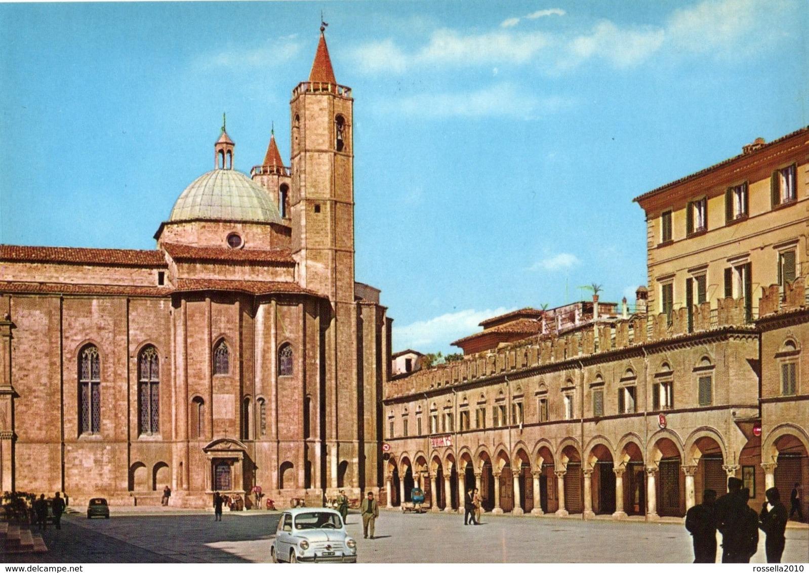 Cartolina ITALIA MARCHE ASCOLI PICENO PIAZZA DEL POPOLO Italy Postcard Italien Ansichtkarten Carte Postale - Ascoli Piceno