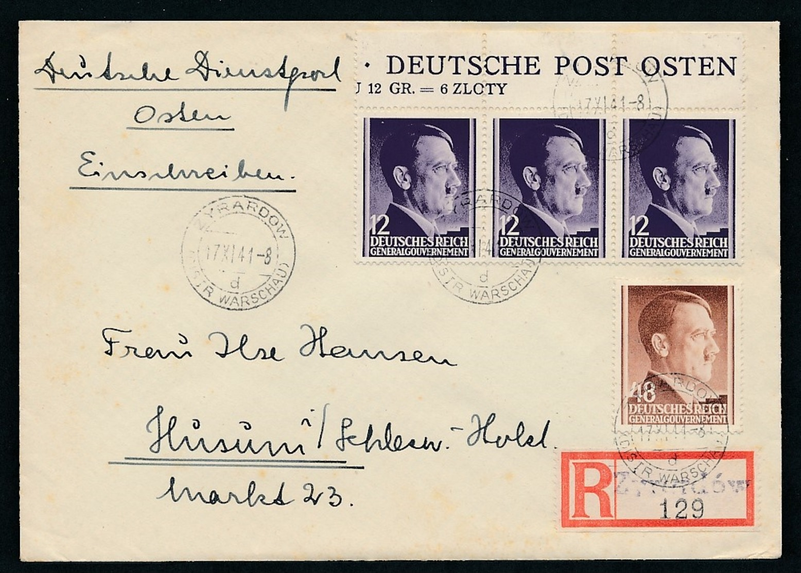 D.-Post In Polen  -Beleg... (op843  ) Siehe Scan - Besetzungen 1938-45