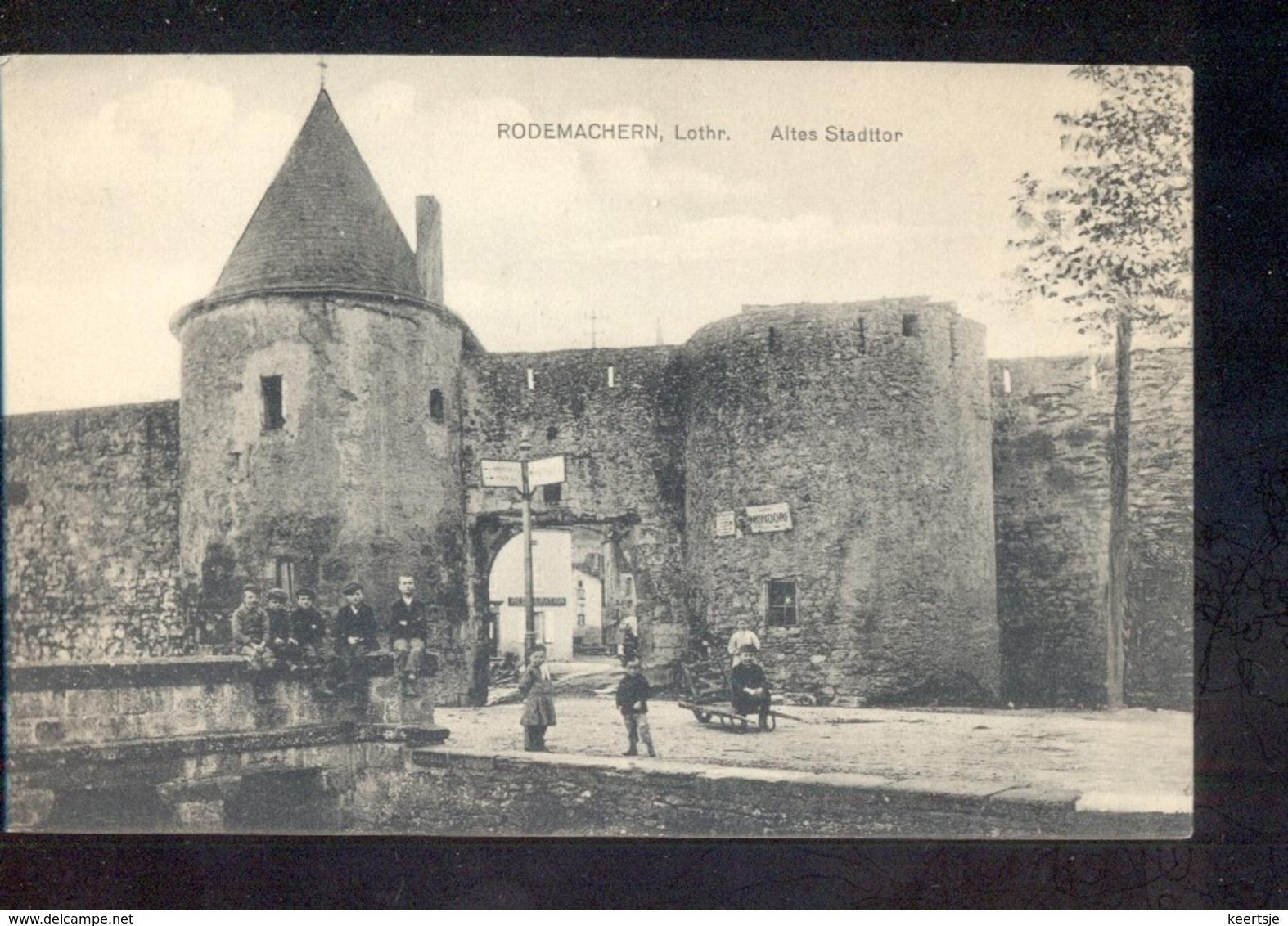 Luxembourg Luxemburg - Rodemachern - Lothr - Altes Stadttor - 1915 - Zonder Classificatie