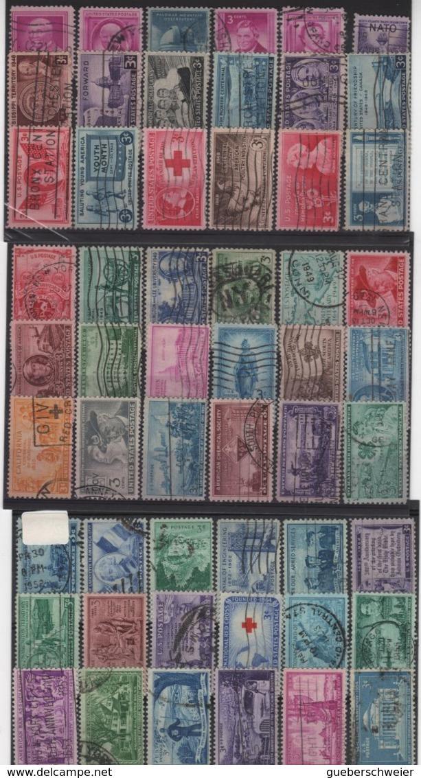 ED 37 - ETATS-UNIS Collection Obl. Avec Classiques Et Postes Aériennes, Variétés De Teintes Et De Dentelures Forte Côte - Etats-Unis