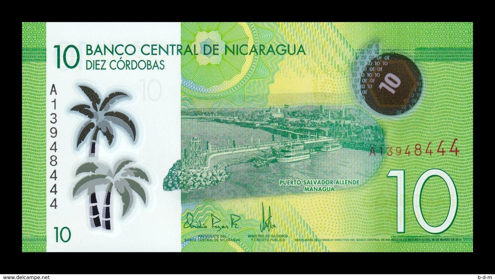 Nicaragua 10 Córdobas 2014 Pick 209 Polymer SC UNC - Nicaragua