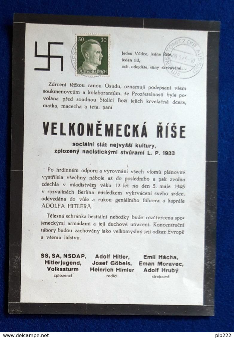 Germania Reich Volantino Di Propaganda / Propaganda Flyer 9/5/1945 VF/F - Germania