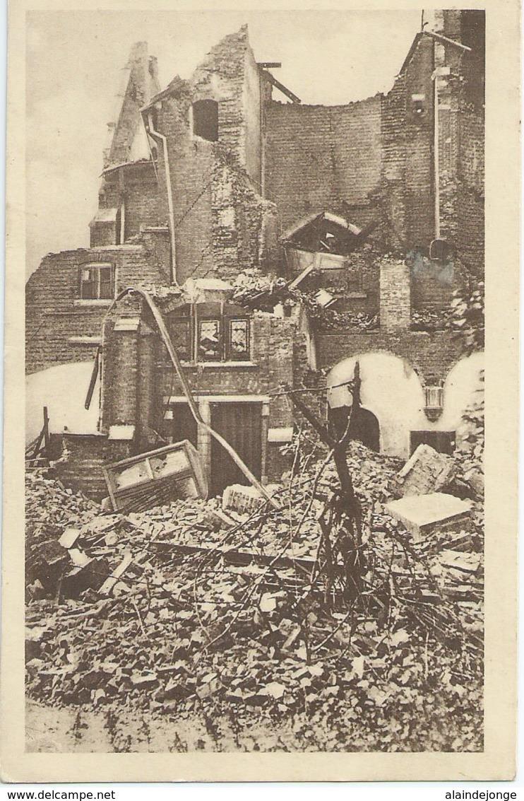 Balgerhoeke - Parochie St-Antonius Van Padua Te Balgerhoeke - Aanzicht Op Verwoeste Sakristie, Toren, Hoogzaal, Orgel .. - Eeklo