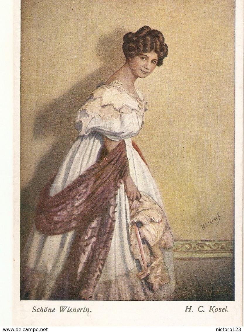 """""H.C. Kasel. Pretty Wiennerin"" Fine Paiting, Vintage Austrian Postcard - Mujeres"