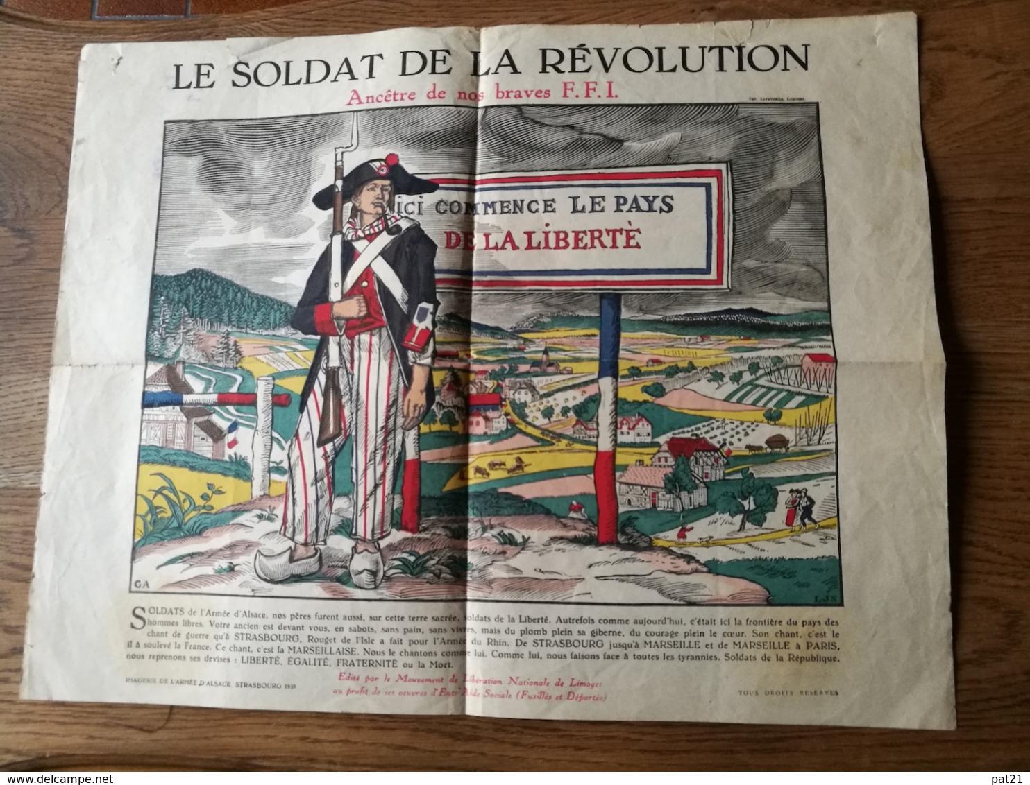 WW2   Le Soldat De La Révolution, Ancêtre De Nos Braves F.F.I.   46x35 Voir Photos - Affiches