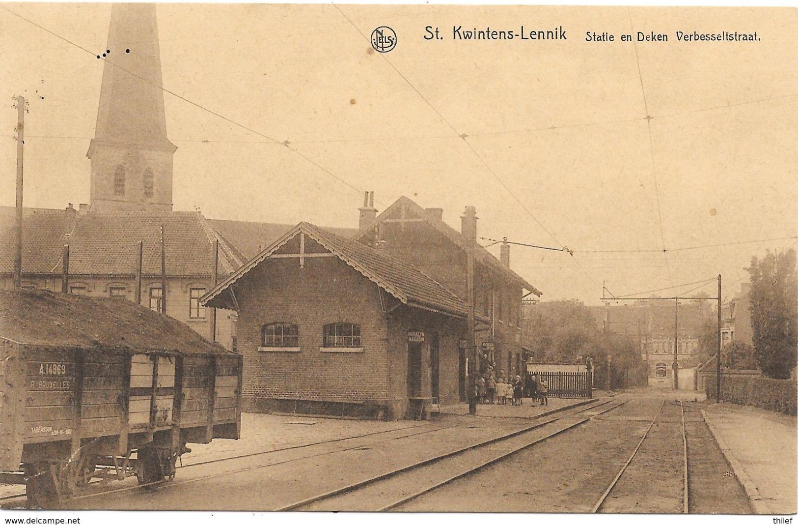 St Kwintens-Lennik NA1: Statie En Deken Verbesseltstraat 1933 - Lennik