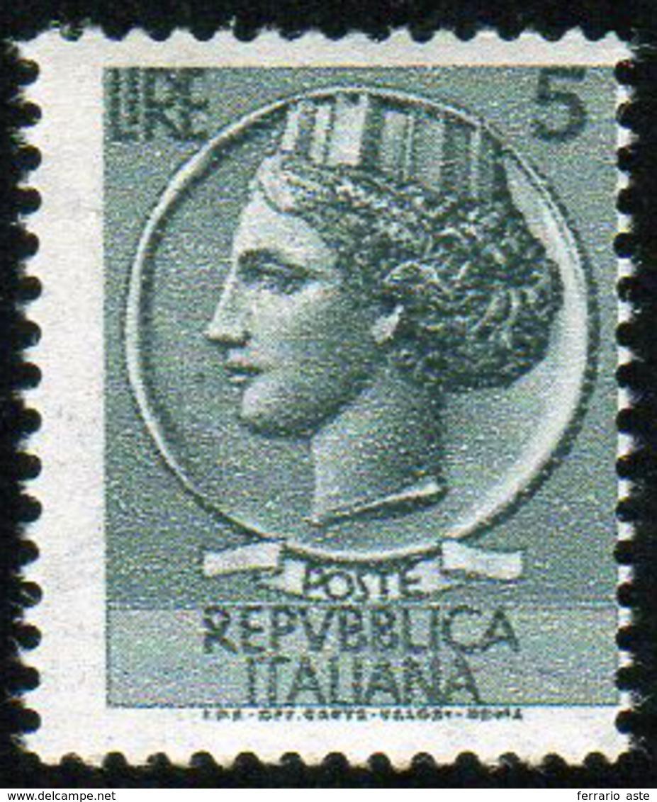 1955 - 5 Lire Siracusana, Filigrana Stelle II Tipo Caricata, Per Macchinette Distributrici (B762/I),... - Sin Clasificación