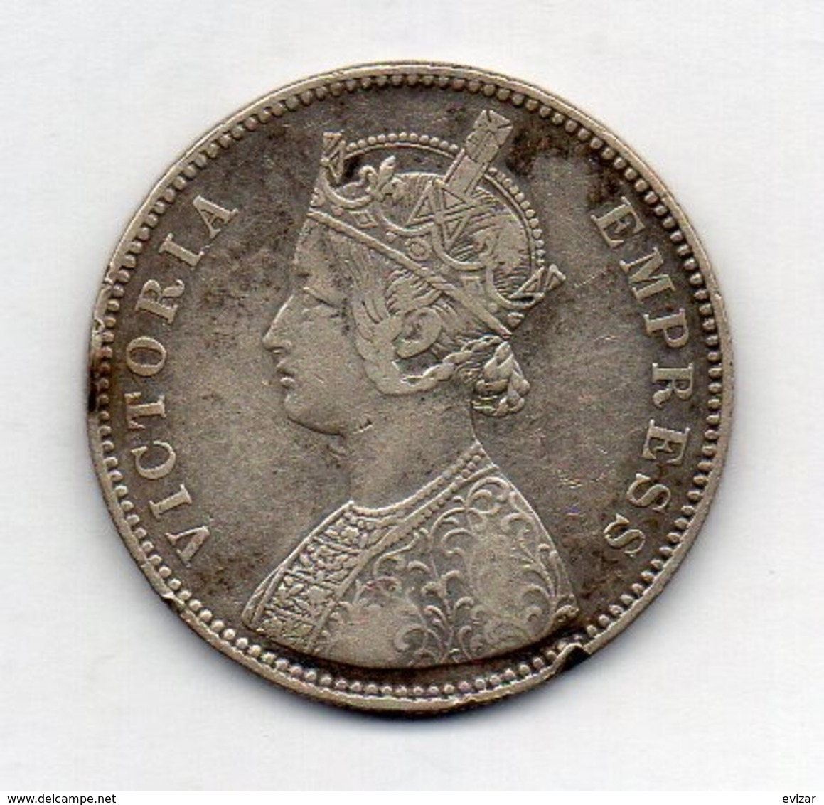 INDE - ALWAR, 1 Rupee, Silver, 1880, KM #45 - India