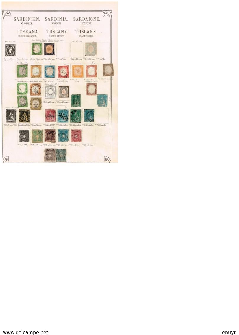Sardaigne - Toscane. Ancienne Collection. Old Collection. Altsammlung. Oude Verzameling. - Collections (sans Albums)