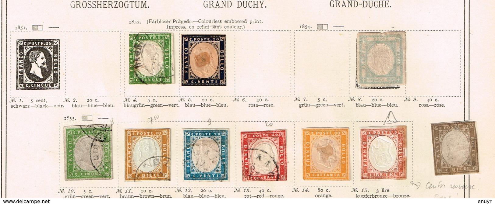 Sardaigne - Toscane. Ancienne Collection. Old Collection. Altsammlung. Oude Verzameling. - Timbres
