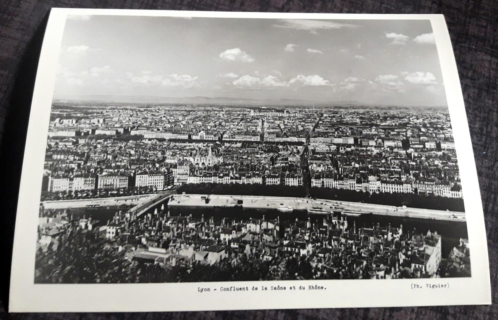 """Old Press Photo """"LYON - Confluent De La Saône Et Du Rhône"""" [19-2622] - Fotos"""