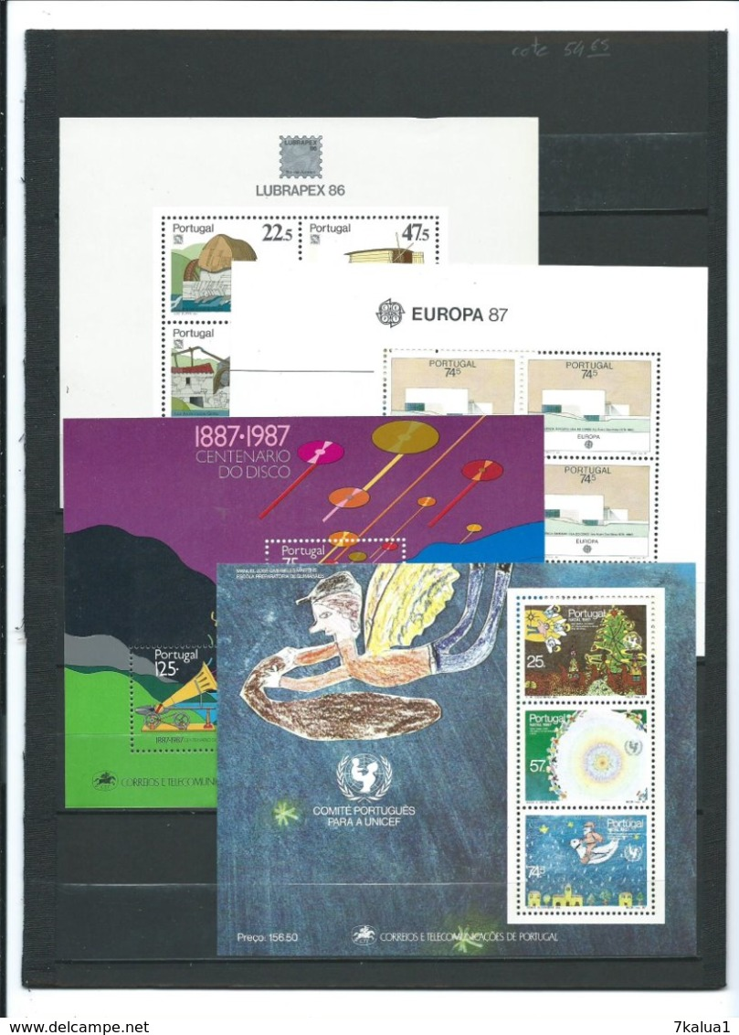 PORTUGAL, Lot De Timbres Et 36 Blocs Neufs **, Cote Totale De 500 €. 8 Pages. - Timbres