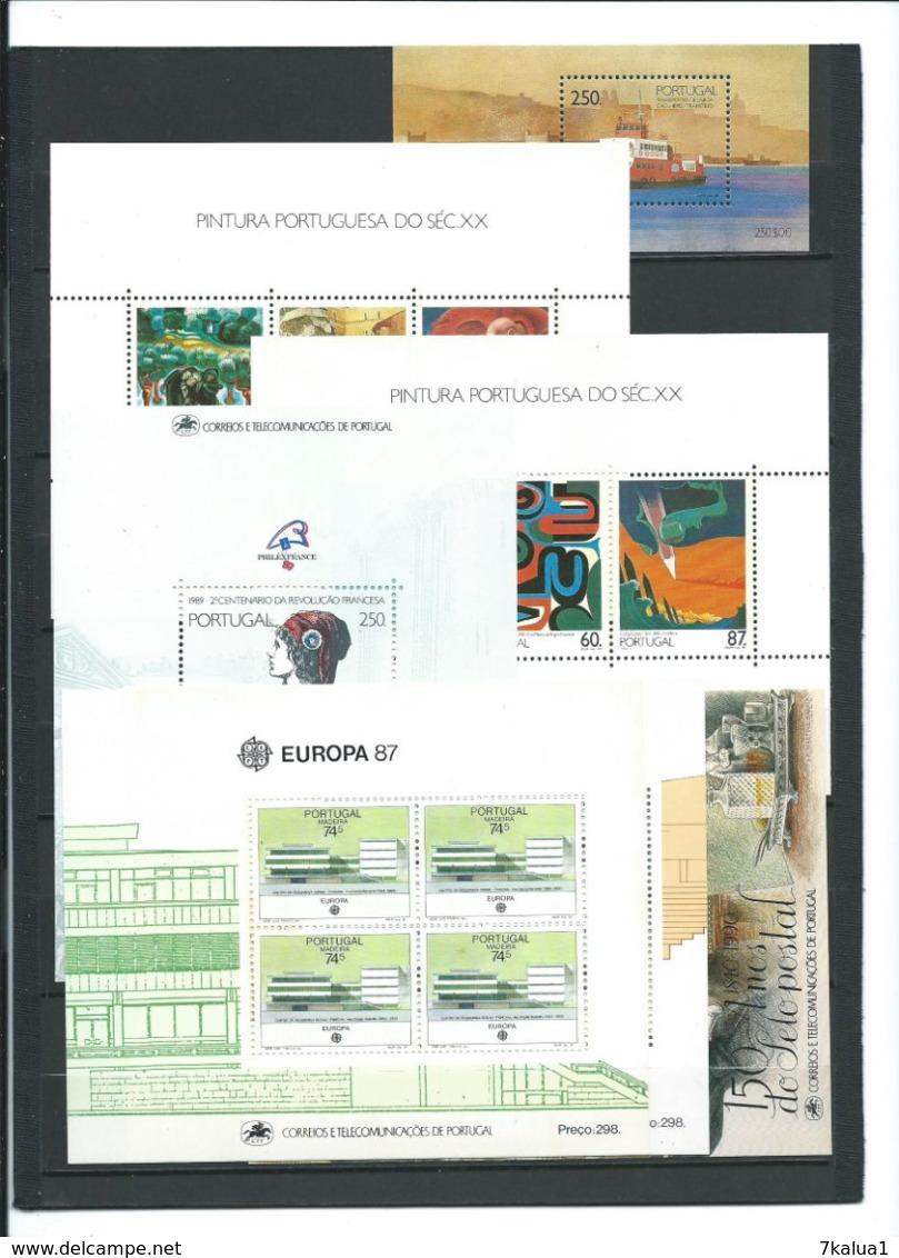 PORTUGAL, Lot De Timbres Et 36 Blocs Neufs **, Cote Totale De 500 €. 8 Pages. - Collections (en Albums)