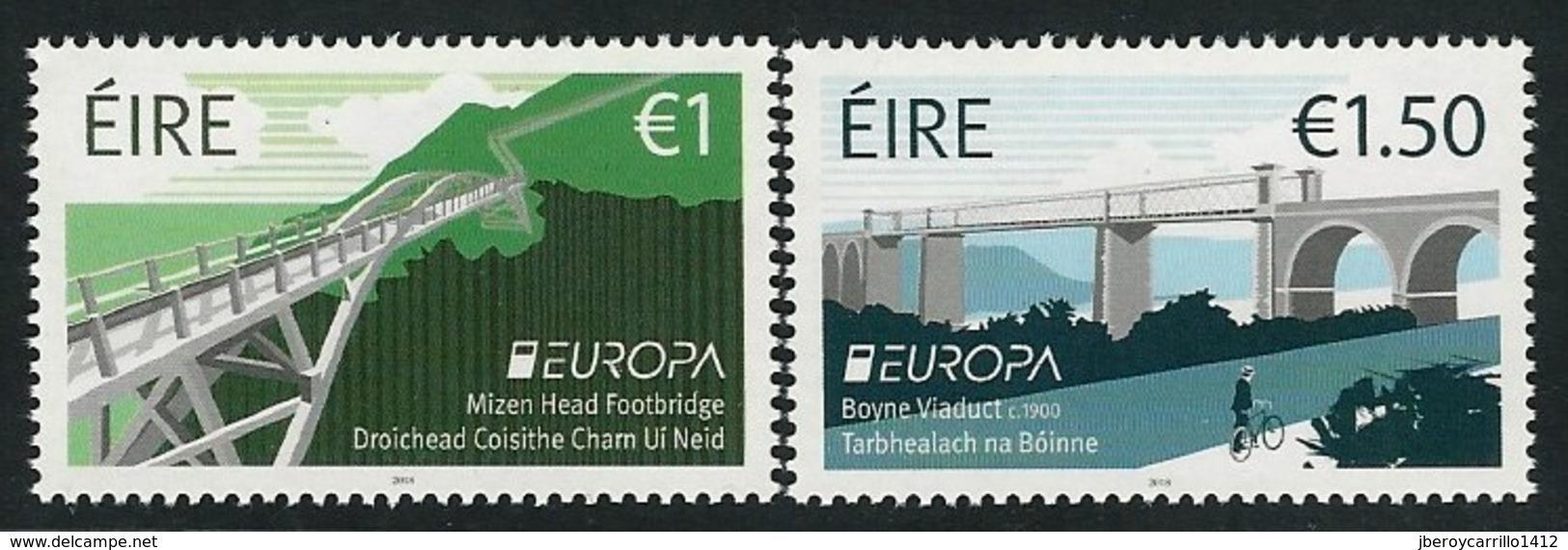 "IRLANDA/ IRELAND/ EIRE/ IRLAND -EUROPA 2018 - PUENTES.- BRIDGES - BRÜCKEN - PONTS"".-SERIE De 2 V. - 2018"