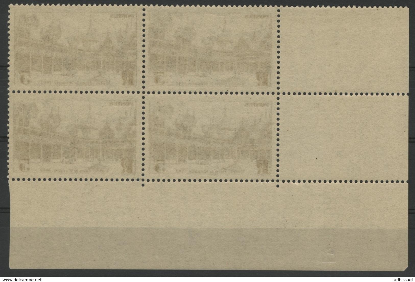 """N° 498 ** (MNH). Coin Daté Du 29/11/41 / Bloc De Quatre """"Hôtel Dieu De Beaunel"""". - Angoli Datati"""