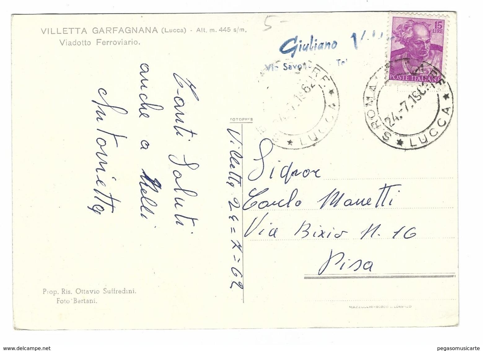 980 - VILLETTA GARFAGNANA LUCCA VIADOTTO FERROVIARIO 1962 - Lucca