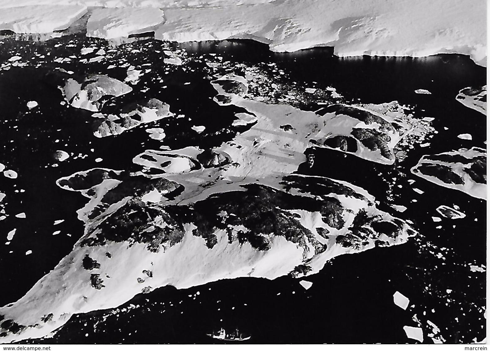 TAAF Carte Postale Vue Aérienne De L'Ile Des Pétrels 1963 - French Southern And Antarctic Territories (TAAF)