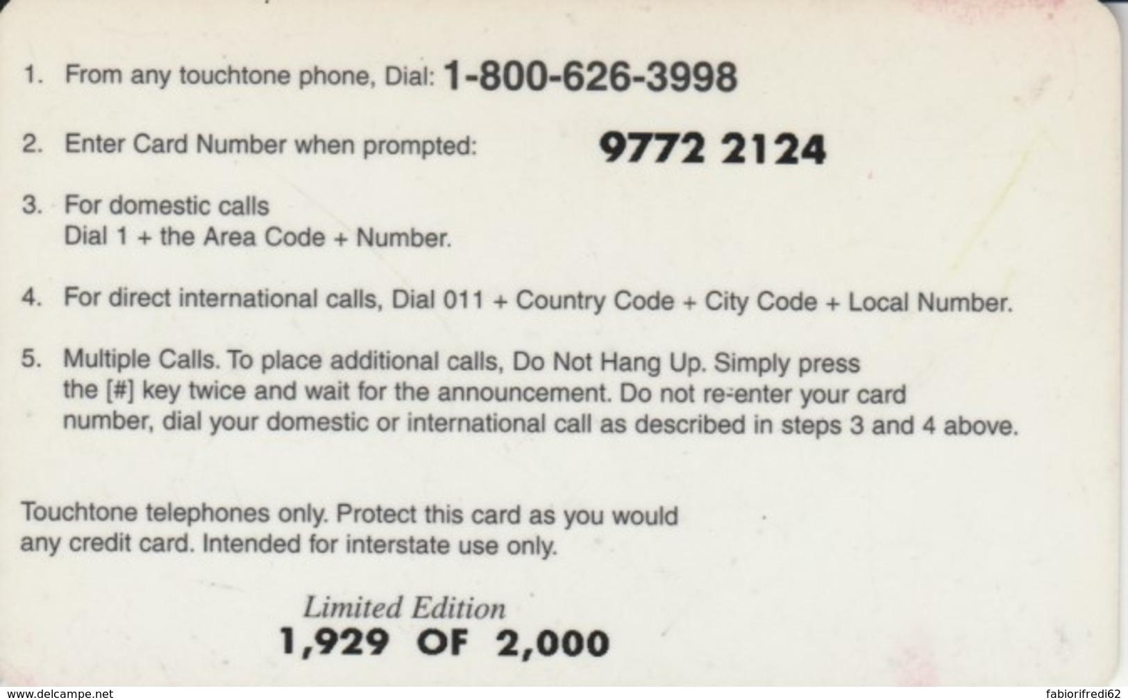 PREPAID PHONE CARD STATI UNITI (PK1417 - Verenigde Staten