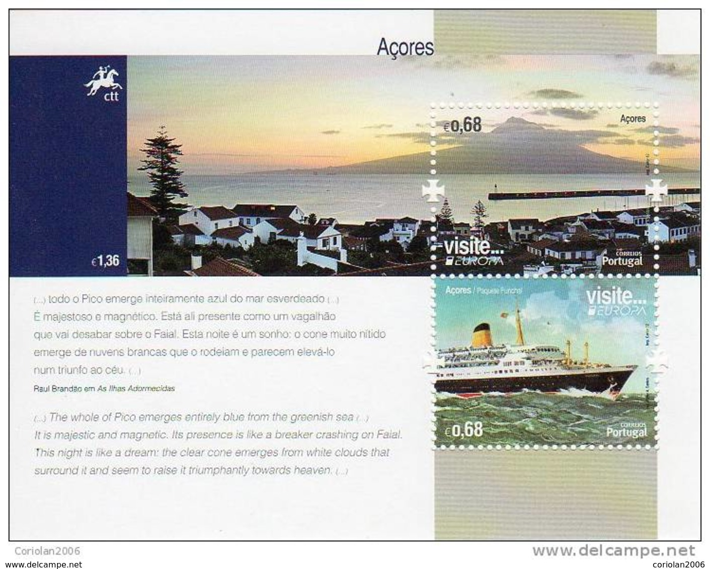 Portugal Azore / Europa 2012 / S/S - 2012