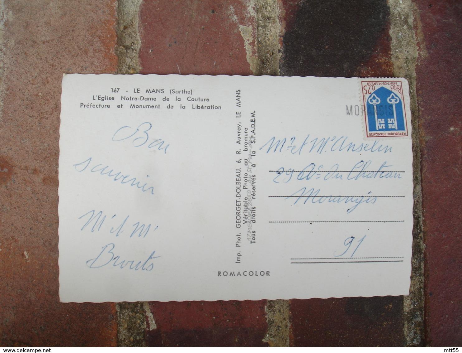 Morangis  Griffe Marque Lineaire Obliteration De Fortune Sur Lettre - 1921-1960: Modern Tijdperk