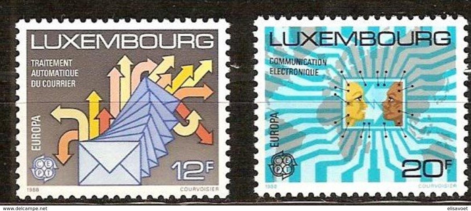 Luxembourg Luxemburg CEPT 1988 Yvertn° 1149-1150 *** MNH  Cote 8,00 Euro Transport Et Communication - 1988