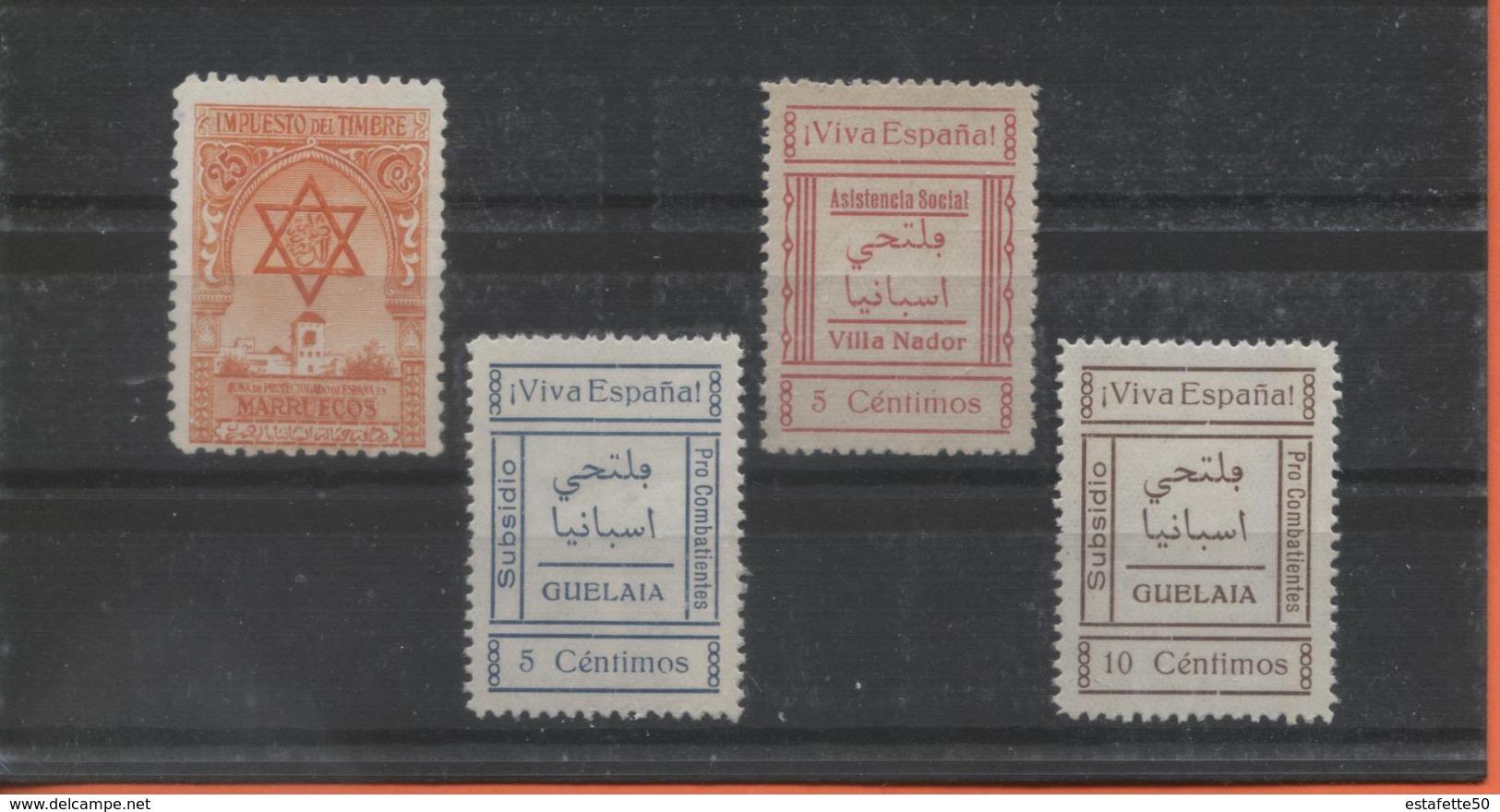 """Maroc,protectorat Espagnol ; Timbres Fiscaux """"Morocco,Marruecos - Marruecos (1956-...)"""