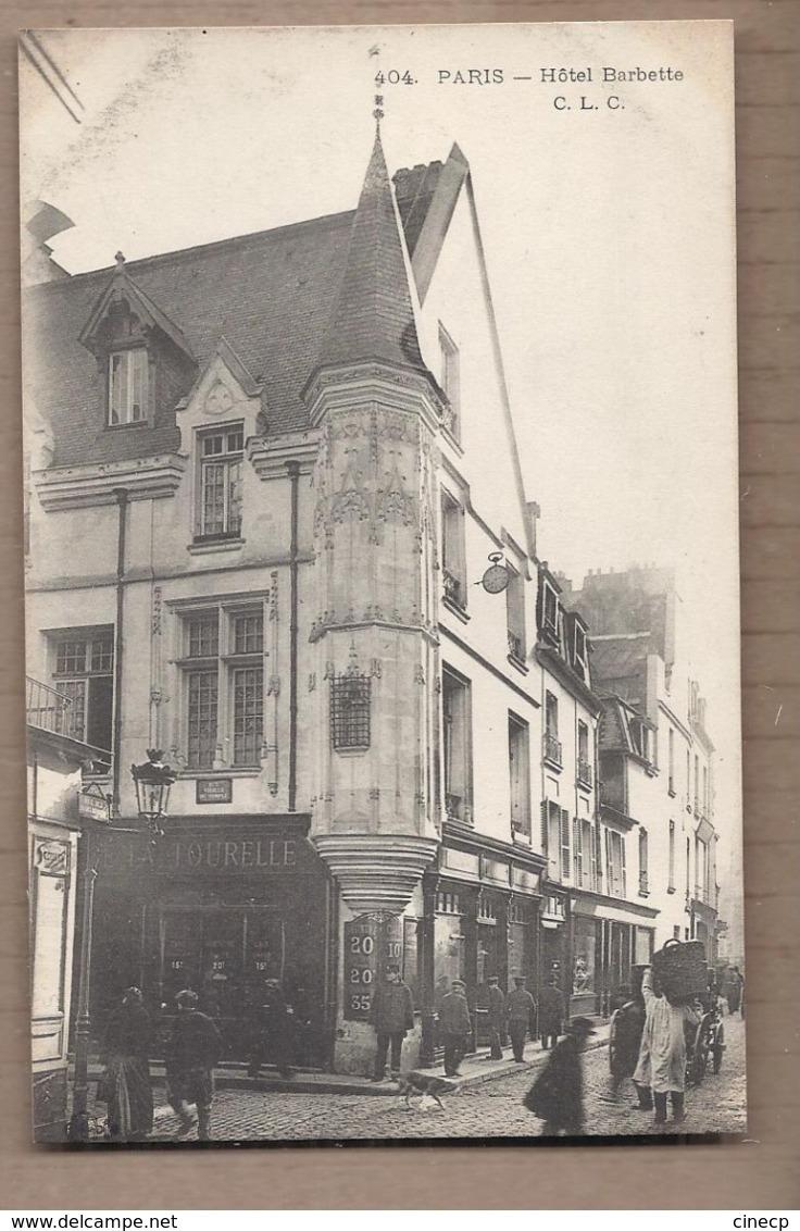 CPA 75 - PARIS 3ème - Hôtel BARBETTE - TB ANIMATION De Rue + TB Devanture MAGASIN Croisement - District 03