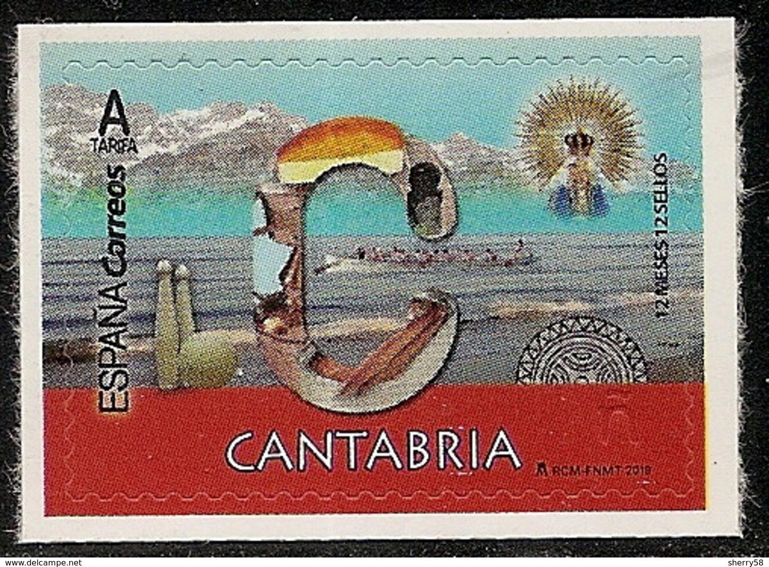 2019-ED. 5282 - 12 Meses, 12 Sellos. CANTABRIA -NUEVO- - 1931-Today: 2nd Rep - ... Juan Carlos I