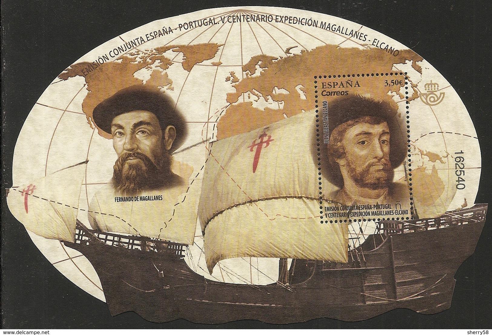2019-ED. 5340 - V Centenario De La Expedición Magallanes - Elcano. Emisión Conujnta España- Portugal -NUEVO - 2011-... Unused Stamps