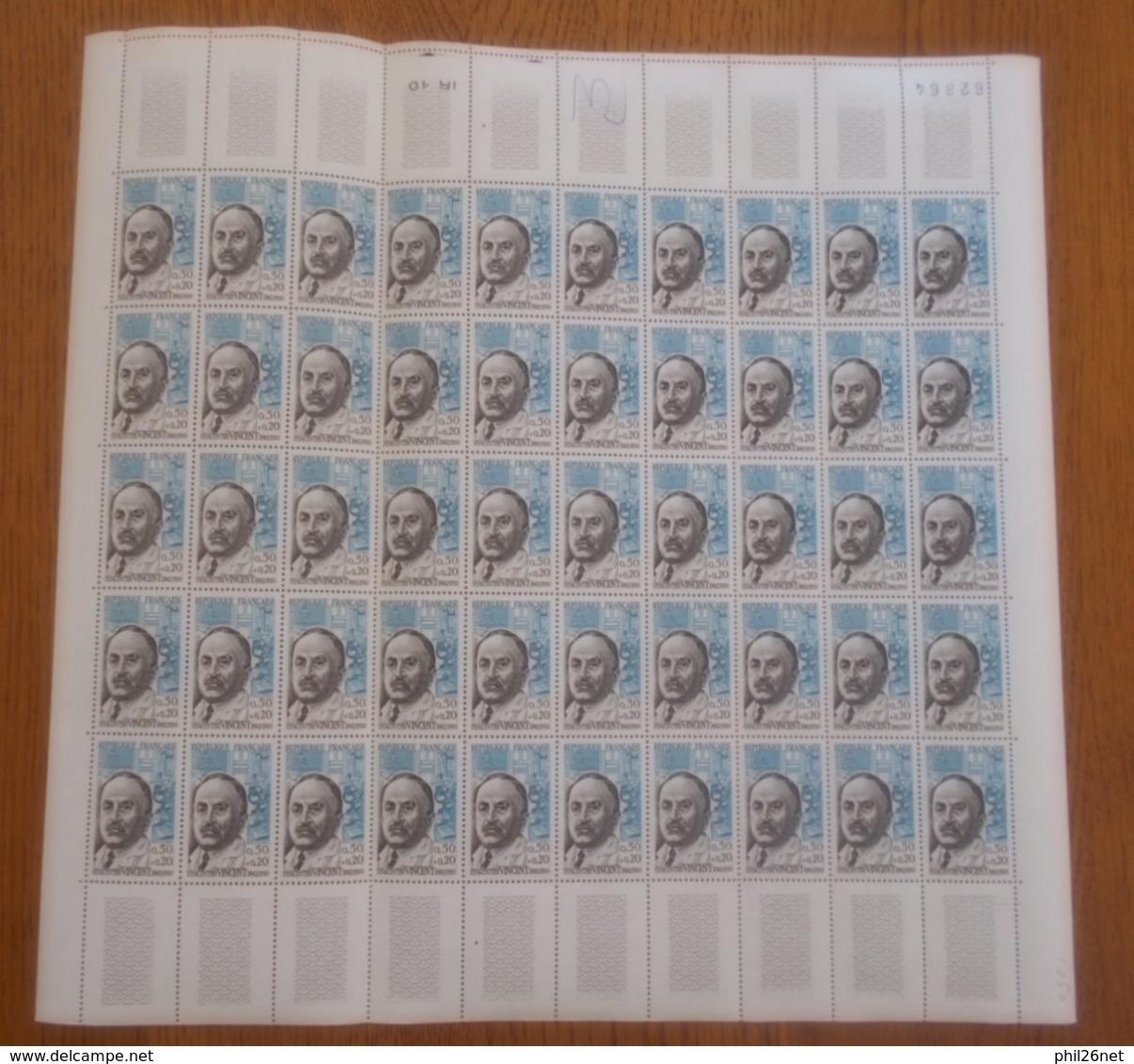 Feuilles Entières N° 1345 à 1350 Célébrités 1962 Neufs * * TB = MNH VF Soldé  à Moins De 15 %  Meilleur Prix Sur Le Site - Full Sheets