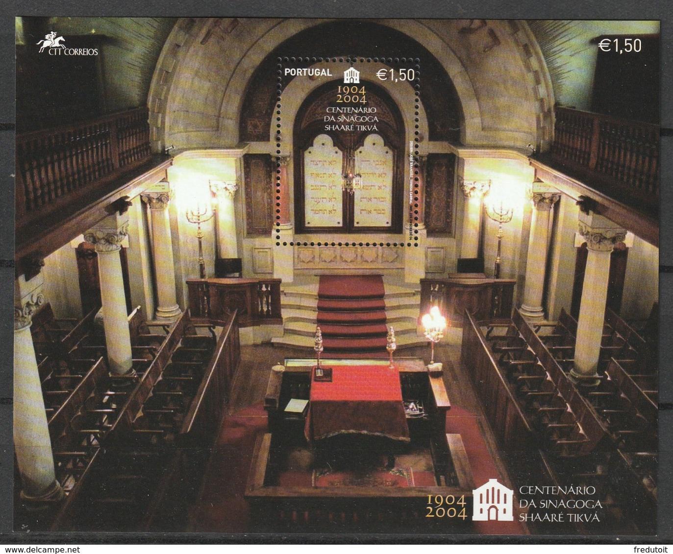 PORTUGAL - BLOC N°206 ** (2004) Patrimoine Judaique - Blocchi & Foglietti