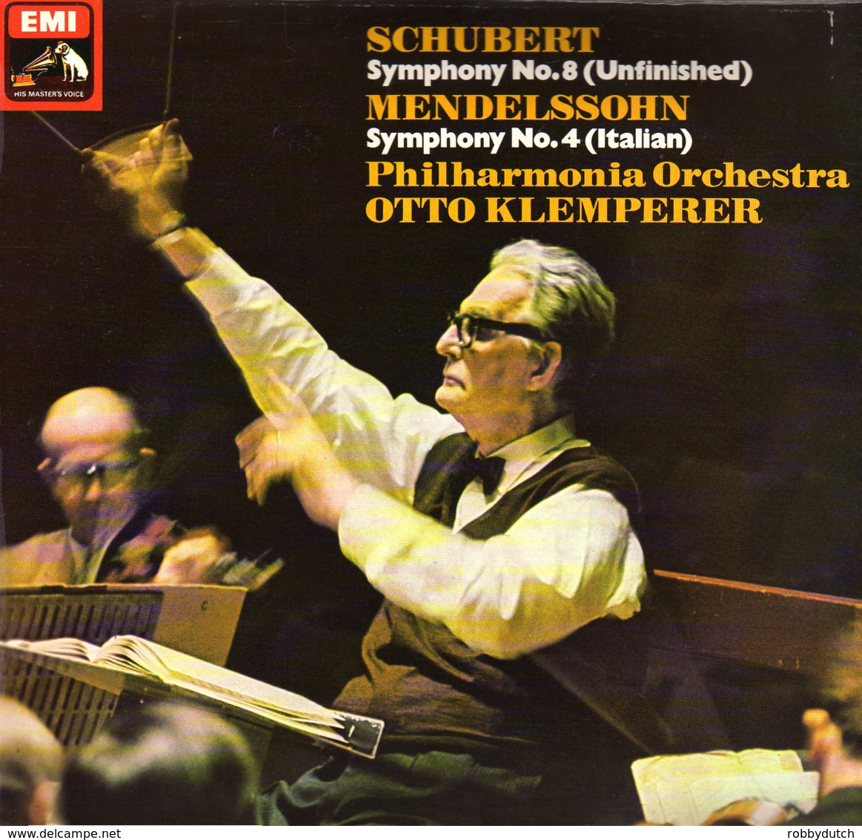 * LP *  SCHUBERT: SYMPHONY No.8 - MENDELSSOHN: SYMPHONIY No.4 - PHILHARMONIA ORCHESTRA / KLEMPERER - Klassik