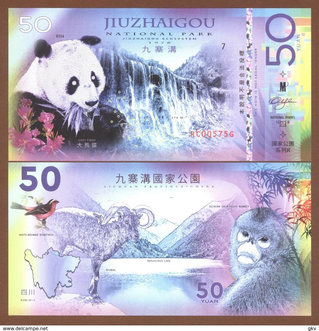 JIUZHAIGOU National Park (China) 50 Yuan 2018 Polymer UNC - Bankbiljetten