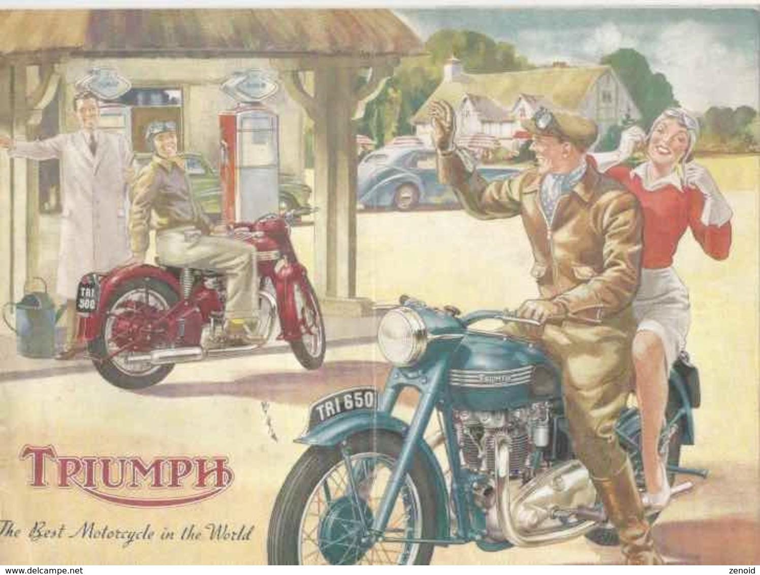 Livret Publicitaire Triumph 1951 - Motor Bikes