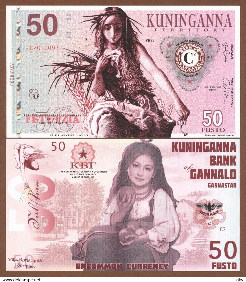 KUNINGANNA TERRITORY Set 8 Pcs 2015 UNC. Harvest Maven - Bankbiljetten
