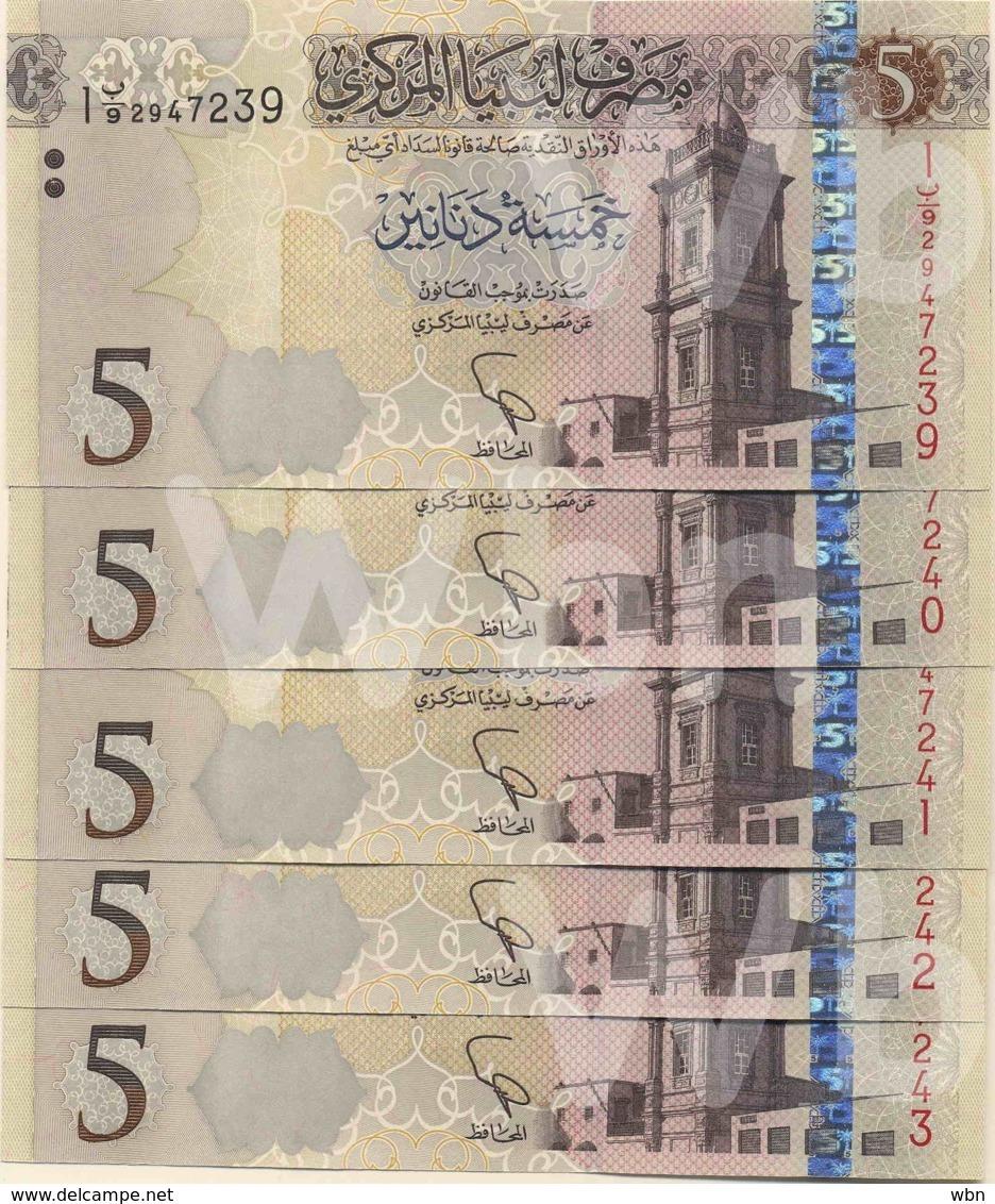 Libya 5 Dinars (P81) 2015 X5 -UNC- - Libya