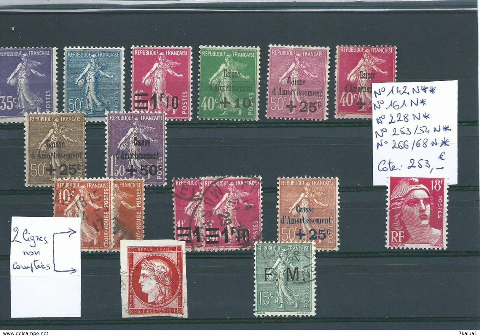 FRANCE, Petit Lot De Caisse D'Armotissement Et Divers, Tous états, Cote : 253 €. ( + Divers Non Comptés) - Stamps