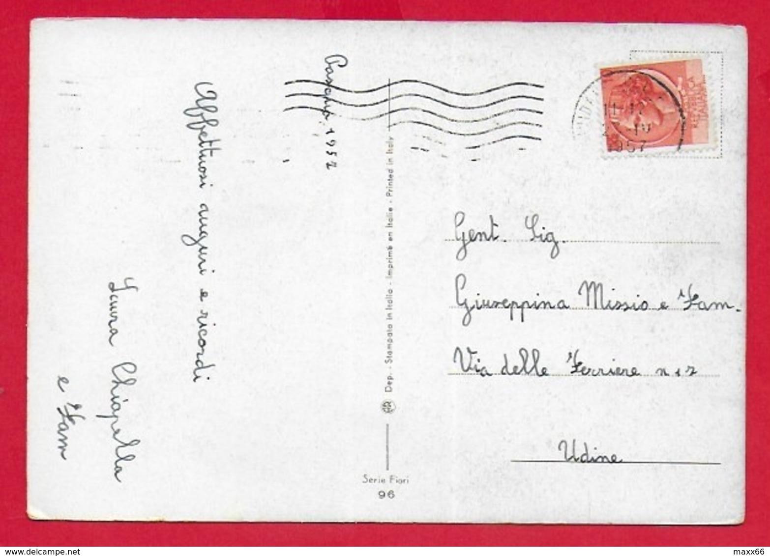 CARTOLINA VG ITALIA - BUONA PASQUA - Cristo Pastore - AR 96 Serie Fiori - 10 X 15 - 1952 - Pasqua