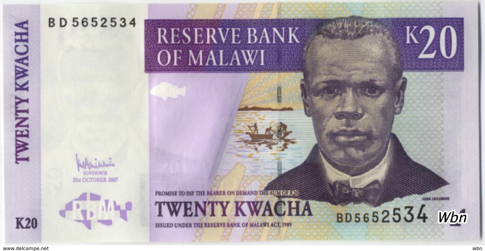 Malawi 20 Kwachas (P50) 2007 -UNC- - Malawi
