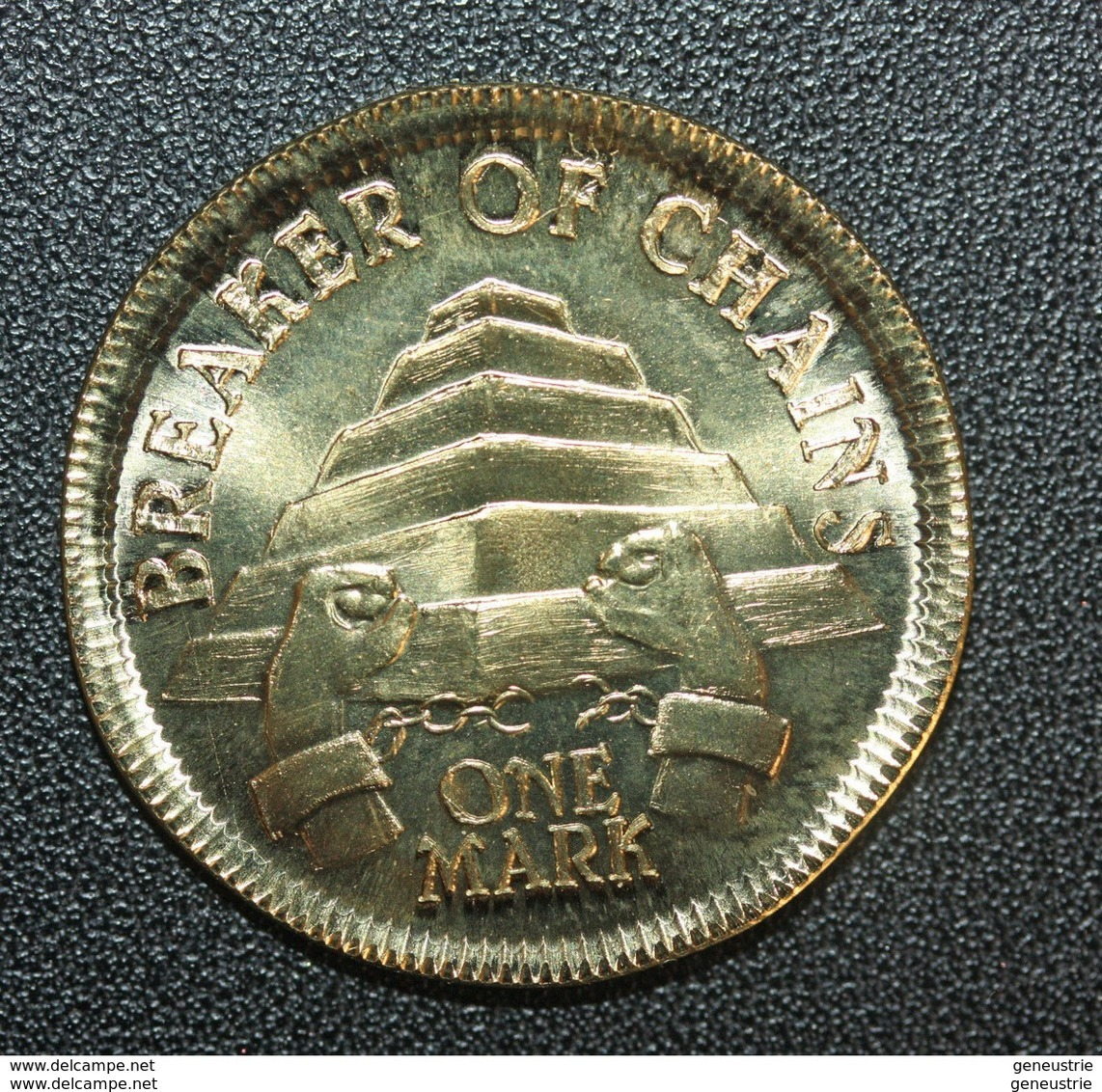 """Very Beautiful And Rare Bronze Fantaisy Token """" One Mark / Game  """" One Mark / Game Of Thrones """" Dragon - Unclassified"""